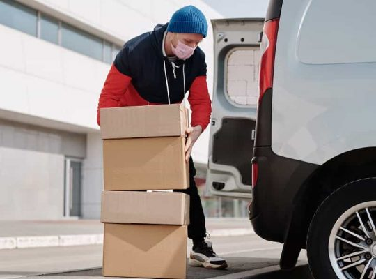 Be cautious when receiving deliveries at home