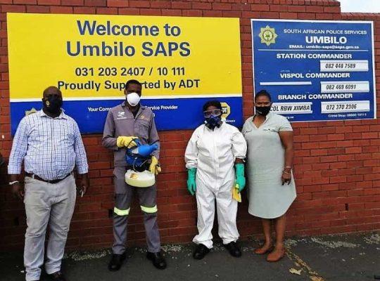Umbilo SAPS sanitisation a success